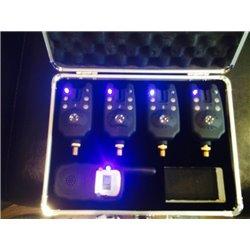 Набор сигнализаторов поклевки с пейджером 4+1 (в кейсе)