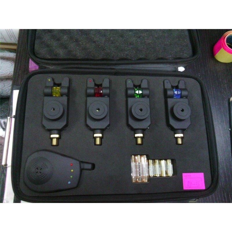 Набор электронных сигнализаторов KAIDE 4+1 в чехле KD35