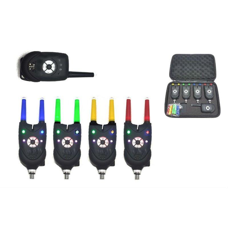 Набор электронных сигнализаторов поклевки с пейджером 84 (4+1)