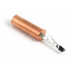 Сигнализатор поклевки кольчик-гильза желтый/медный на прищепке KX-LB-08