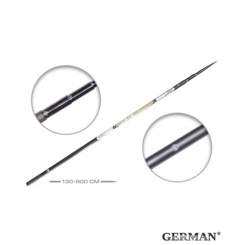 Удилище без колец German Pole 'Inspiration' IM8 / 8 м