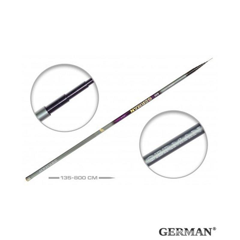 Удилище без колец German Pole 'Mystery' IM8 / 8 м