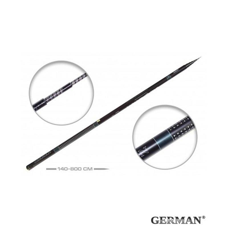 Удилище без колец German Pole 'Superstick' IM6 / 8 м
